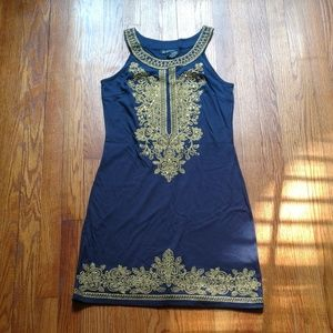 Navy and Gold Dress